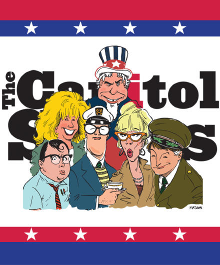Illustration of the Capitol Steps members