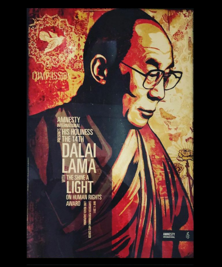 Poster of the Dalai Lama