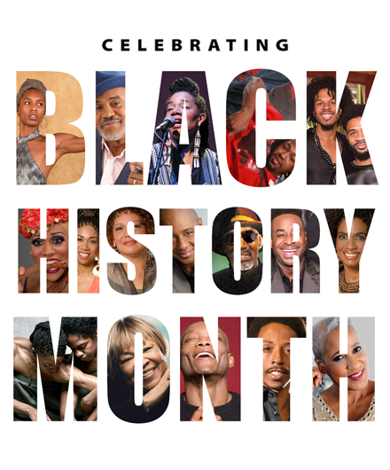 Black History Month with images of Black artists