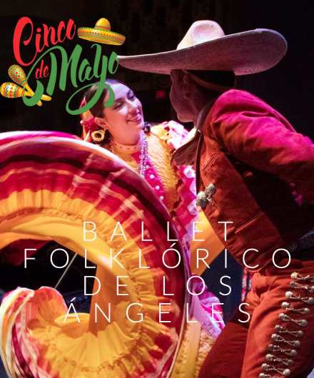 Image of two dancers from Ballet Folklorico de Los Angeles