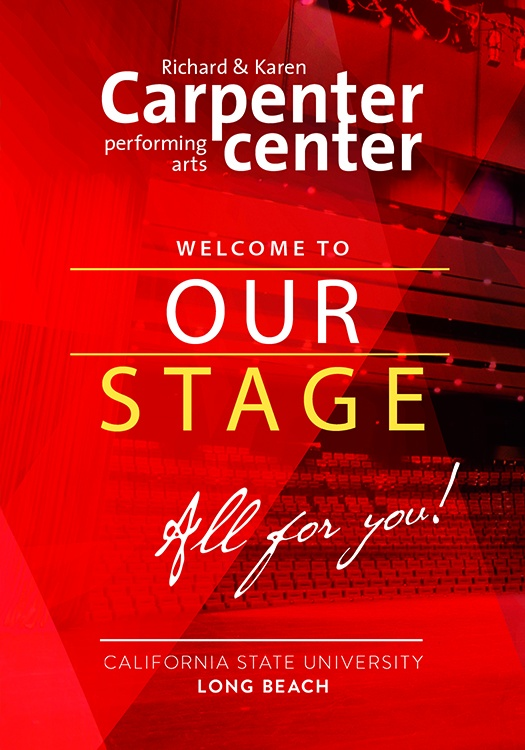 2020 Brochure cover showing interior of the Carpenter Center theatre