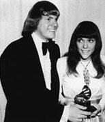 Richard and Karen Carpenter accepting an award.