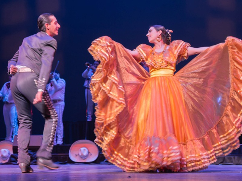 Classroom Connections, showing Ballet Folklorico de Los Angeles performing on a stage